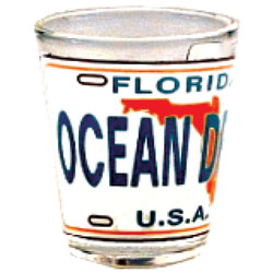 Florida Ocean Drive License Plate Shot Glass