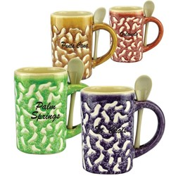 Glazed Ceramic Spoon Mugs