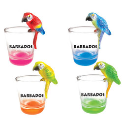PARROT TOPPER SHOT GLASS