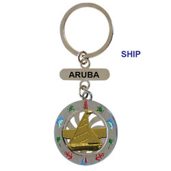 SHIP SPINNING KEY CHAIN