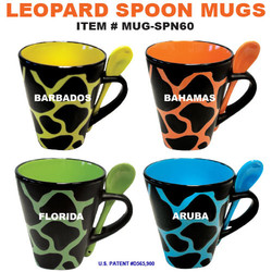 Leopard Spoon Mugs