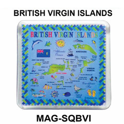 USVI MAP SQUARE MAGNET