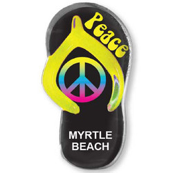 PEACE SIGN SANDAL MAGNET