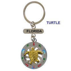 TURTLE SPINNING  KEY CHAIN