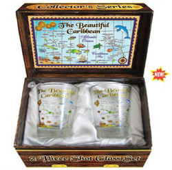 Souvenir Shot Glass Box Set Caribbean