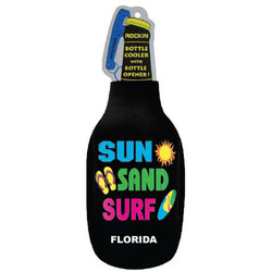 SUN, SAND & SURF BLACK BOTTLE COOLER