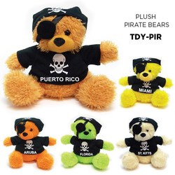 PLUSH PIRATE BEARS
