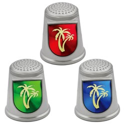 STAINLESS STEEL THIMBLES. PALM TREE