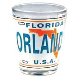 Florida Orlando License Plate Shot Glass