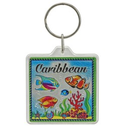 THE CARIBBEAN, Fish Acrylic Foil Keychain