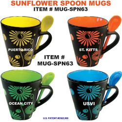 Sunflower Spoon Mugs