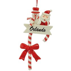 SANTA CANDY CANE CHRISTMAS ORNAMENTS