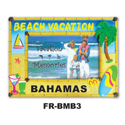 Beach Vacation Bamboo Picture Frame