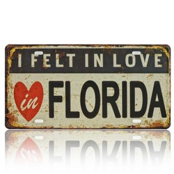 I Felt In Love In Florida, Souvenir License Plate