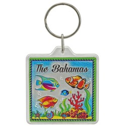 THE BAHAMAS, Fish Acrylic Foil Keychain
