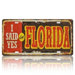 I Said Yes  In Florida, Souvenir License Plate