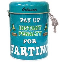 Fart Tin Can Bank
