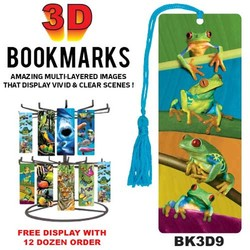 Frogs 3D Bookmark