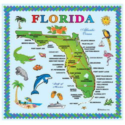 FLORIDA State Map FOIL Square Magnet