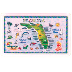 FLORIDA State Map ACRYLIC Rectangular Magnet