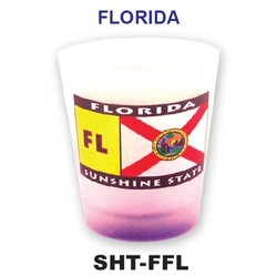 Florida Flag FROSTED Shot Glass