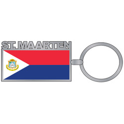 St. Maarten Flag  ENAMEL Key Chain