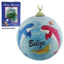 DOLPHIN FROSTED CHRISTMAS ORNAMENTS