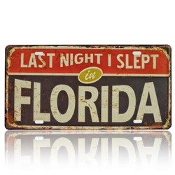 Last Night I Slept In Florida, Souvenir License Plate
