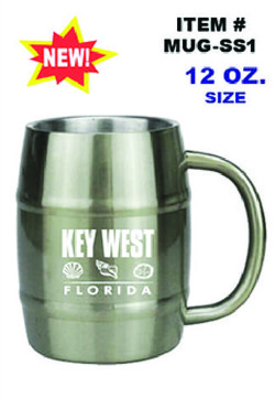 Stainless Steel Barrel Mug Key West