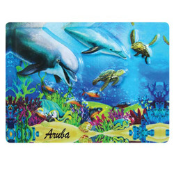 DOLPHIN EMBOSSED RUBBER MAGNET