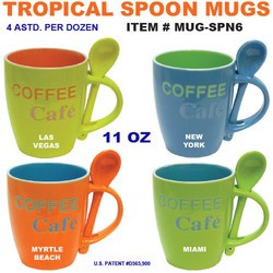 Tropical Spoon Mugs