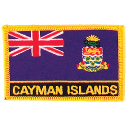 Cayman Islands Iron-On Embroidered Patch