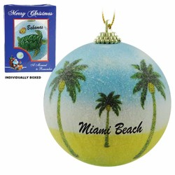 PALMS FROSTED CHRISTMAS ORNAMENTS