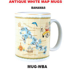 Bahamas Antique White Map Mug