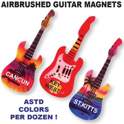 AIRBRUSHED GUITAR MAGNETS
