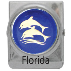 METAL CLIP MAGNET DOLPHIN