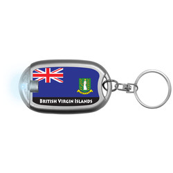 BRITISH VIRGIN ISLANDS FLAG Flaslight Keychain
