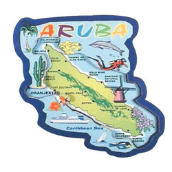 ARUBA MAP 3D CARVED MAGNET