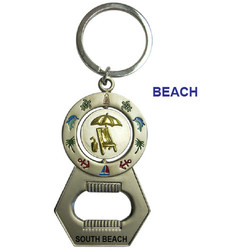 BEACH SPINNER BOTTLE OPENER KEYCHAIN