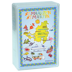 St. Maarten Map Plastic Deck Playing Cards