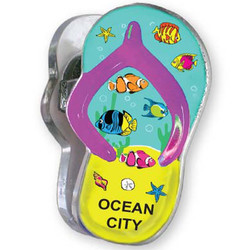 FISH, Sandal Acrylic Memo Clip Magnets