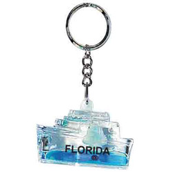 FLOATING KEY CHAIN BLUE SHIP