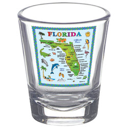 Florida State Map CLEAR Shot Glass