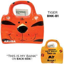Ceramic Tiger Bag Bank