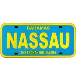 NASSAU LICENSE PLATE MAGNET