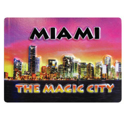 MIAMI THE MAGIC CITY EMBOSSED RUBBER MAGNET