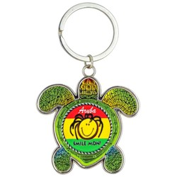 Turtle Foil Key Chain, Smile Mon!