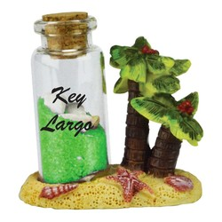 PALM TREE NEON SAND & SHELL BOTTLE