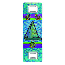 Metallic Double Bottle Opener Sailboat