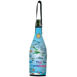 The Caribbean Map Wine Bottle Cooler